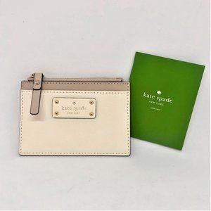 NWT KATE SPADE Taupe/Cream Card Case